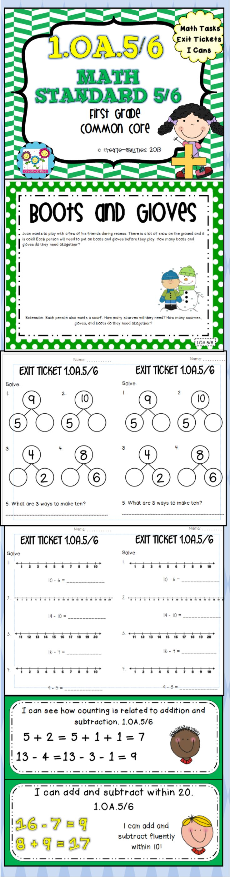 addition and subtraction math tasks and exit tickets the o 39 jays math and exit tickets. Black Bedroom Furniture Sets. Home Design Ideas