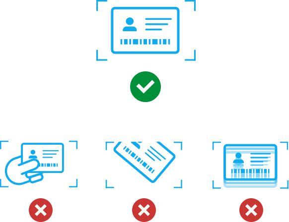 L'ensemble du document doit être lisible (aucune partie ne doit être cachée, coupée ou floue).