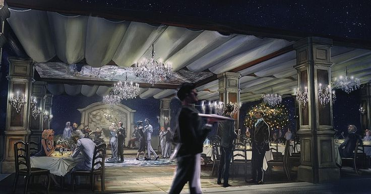 Concept art for motion picture: By the sea Production designer: Jon Hutman