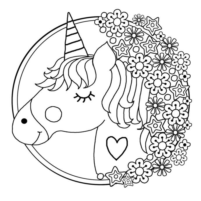 Free Printable Unicorn Colouring Pages For Kids Buster Children S Books Unicorn Coloring Pages Mandala Coloring Pages Emoji Coloring Pages