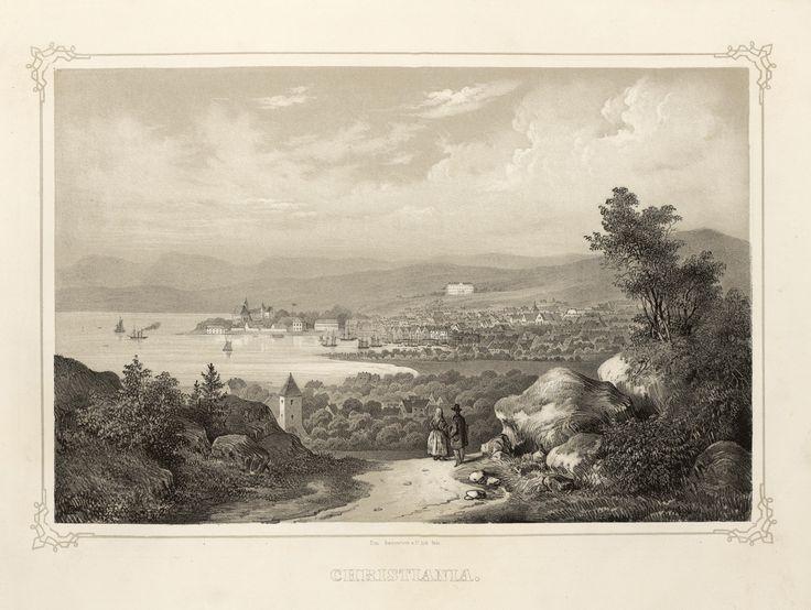 Norge fremstillet i Tegninger - Ukjent - Christiania. jpg (4896×3688)