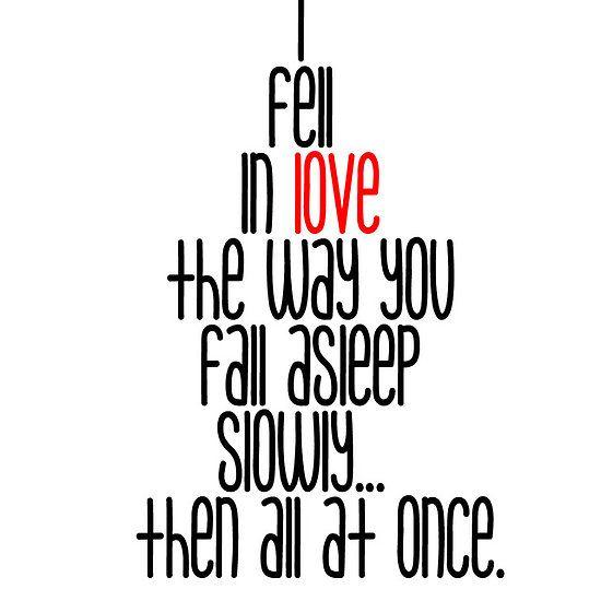 I Fell In Love...