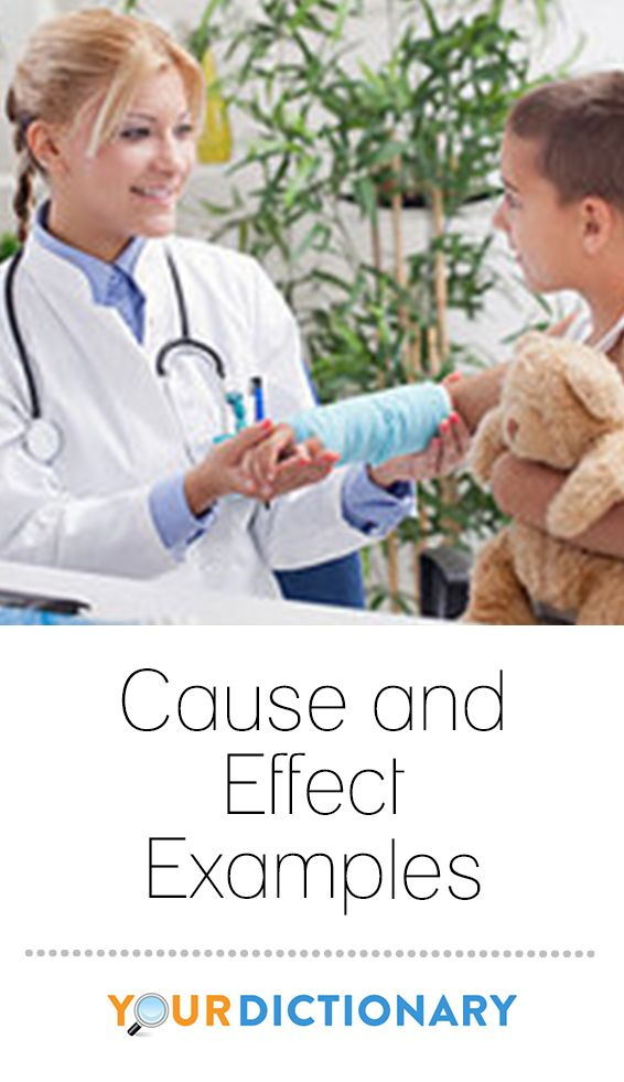 Cause and effect is a relationship between events or things, where one is the result of the other or others. This is a combination of action and reaction. #teach #teaching #teacher #vocabulary | Cause and Effect Examples from #YourDictionary