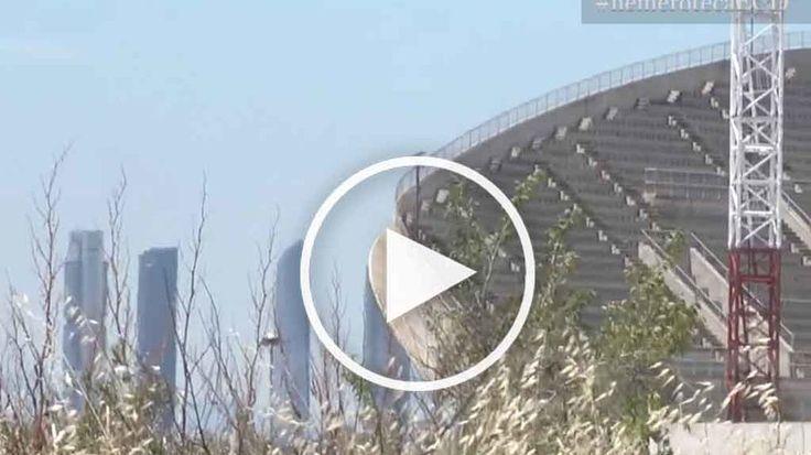 Nos colamos en las obras de La Peineta el nuevo estadio del Atlético del Madrid