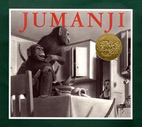 After reading the book Jumanji, have kids invent their own magical board game, constructed out of paint chips or construction paper. Divide children into groups or work on a game board as a class. Encourage them to design a game that revolves around a different habitat other than the jungle / rainforest (such as a desert or ocean theme). Once they decide on their theme, they'll decorate their board to go along with it. Also, have them come up with a creative name for their game.