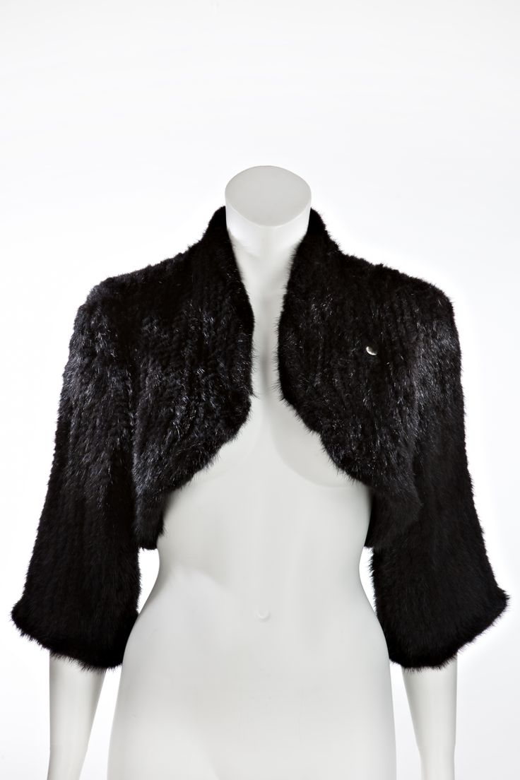 Chic mink bolero for winter's festivities.