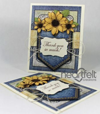 Heartfelt Creations | Jean Pocket Sunflowers Thank You