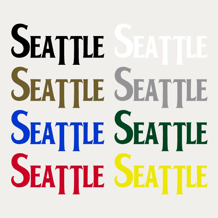 Show off your seattle pride by slapping these stickers wherever you can printed in house
