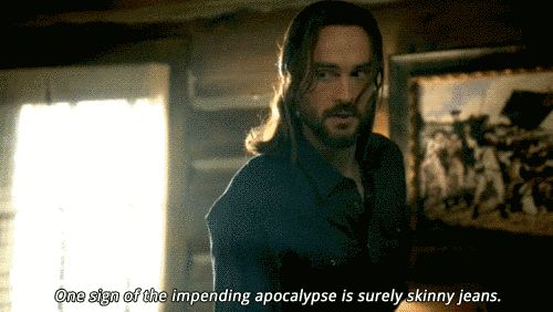 "When Abbie tried to update Ichabod's wardrobe, and failed. | 19 Times Ichabod Crane Was Adorably Clueless On ""Sleepy Hollow"""