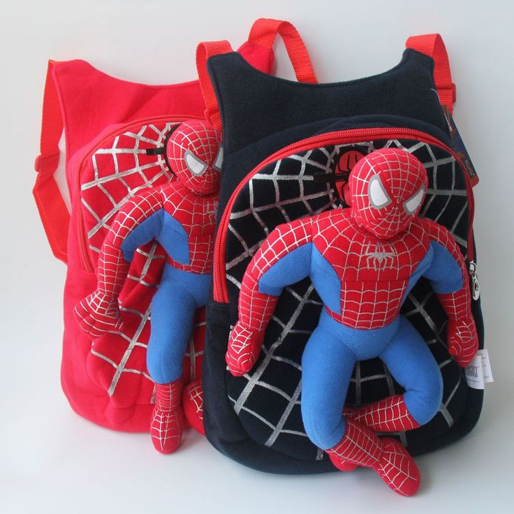 Spiderman 3D Backpack For Children Kid's Plush Toys #spider-man #backpack #3D #plush #bag $14.99