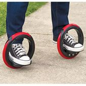 The Sidewinding Circular Skates. The Post Modern Skateboard ~ These are the annular skates that are propelled by leaning side to side, allowing you to glide along as if riding a skateboard without pushing off the ground. Riders simply place their feet on the two platforms and lean side-to-side to rotate the rubber wheels around the feet, propelling riders forward in a serpentine motion similar to longboard skateboarding.