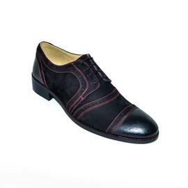 "Pantofi eleganti barbati ""Black Heart"" - 12-815 Black"