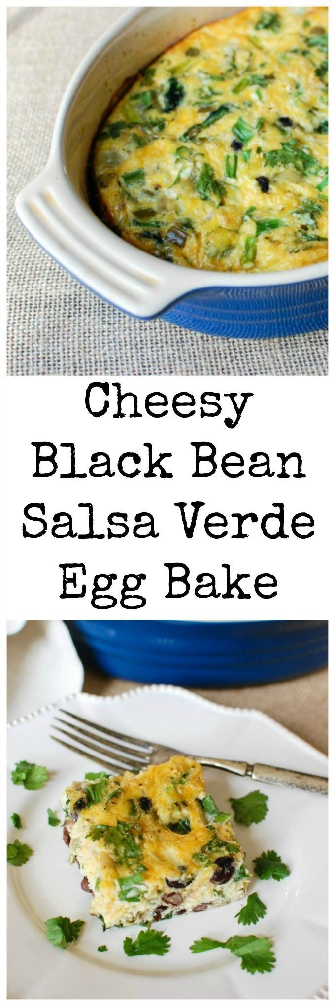 Egg Bake has Southwestern flavors that mix together with spinach, egg ...