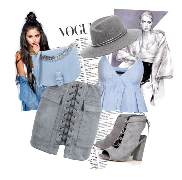 """""""●blue●"""" by clarisa-pop on Polyvore featuring WithChic, Boohoo and Little Liffner"""