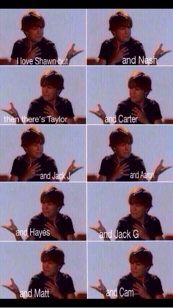 This is so me! I just can't choose although deep down I'm a hayes girl