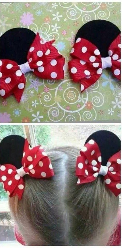 Minnie ear clips