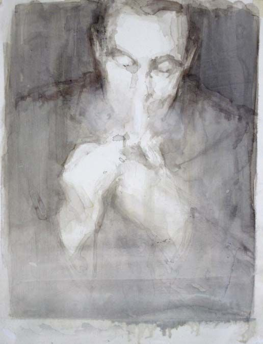 Ginny Grayson The Pipe, 2011 ink & gesso on paper 35.5x29 cm