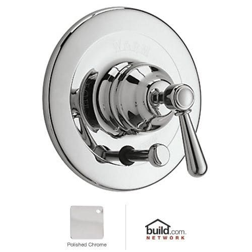 Rohl ARB2400LM Verona Shower Valve Trim (Trim Only) with Metal (Grey) Lever Handle and Diverter (Brass Finish)