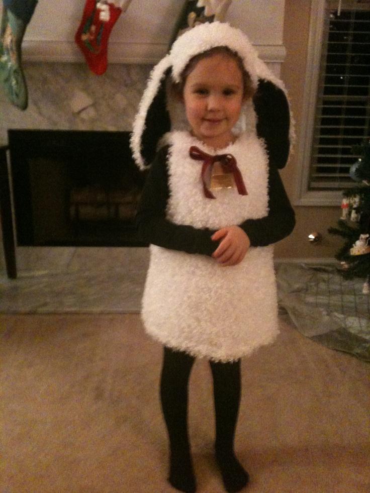 My Little Lamb's costume for her school Christmas program