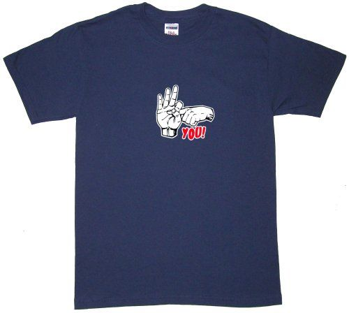 Outer Rebel inF- Youin Mens Funny T Shirt Large Navy