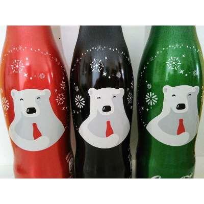 Garrafa De Alumínio Coca-cola De Natal Set/3peças - R$ 31,90 em Mercado Livre