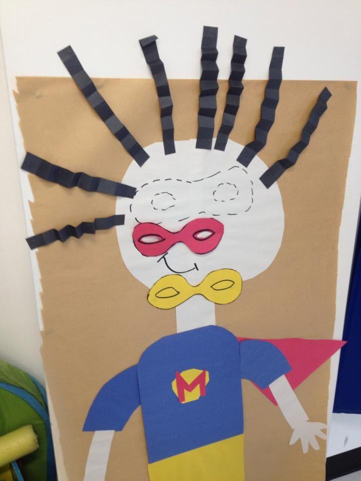 Make a super hero mask contest. Create a super hero and make some mask. The kids needs to glue the mask as mush as close they are able with a bandana on their eyes. ( Il s'agît d'un jeu similaire à celui de la queue de l'âne en français).