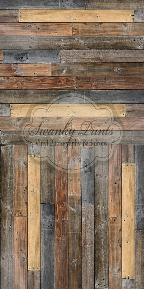 Rustic Pallet Wood - Two In One - Oz Backdrops and Props