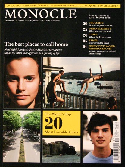 Monocle : choose the city you -'d want ti live in...