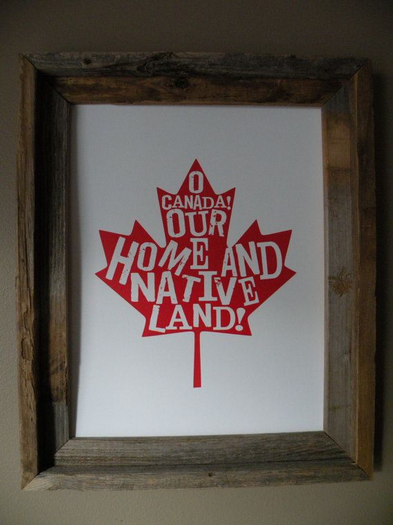 O Canada Map Print by fortheloveofmaps on Etsy