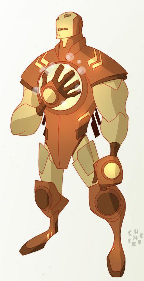 Diseño de personajes Ficci Orama Iron Man
