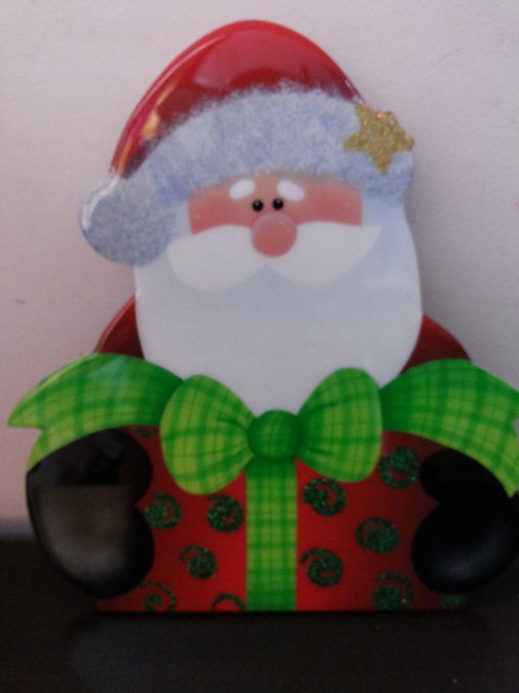 Portacaliente Papá Noel regalo para colocar tus dulces o postres favoritos en la mesa.