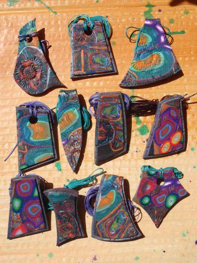 polymer clay pendants