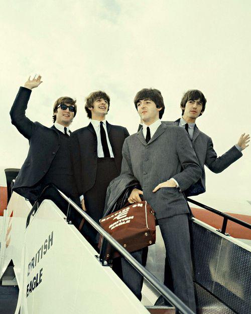 John, Ringo, Paul and George- British Eagle, 1960's