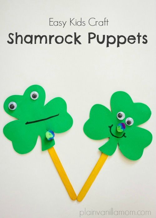 Quick and easy St. Patrick's day craft for kids.