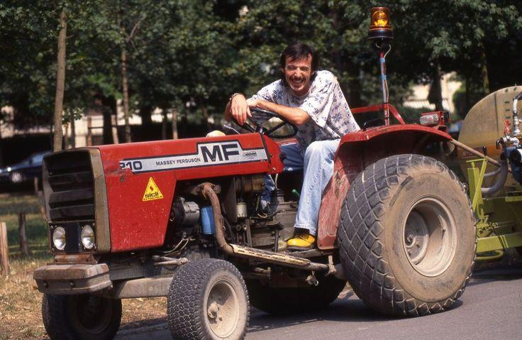 Jean Luc Reichmann lors d'une séance photo avec notre photographe en août1995