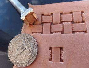 013-19 quadratische Korb Leder-stamp-hausgemachte von Toolpaw