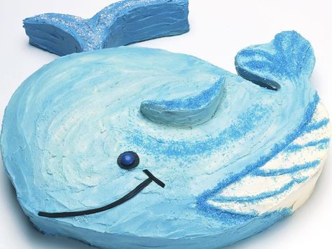 Give your child's birthday a fun nautical theme with this delightful Wally whale birthday cake, if you make the cake the day before and freeze it, it will be easier to decorate.