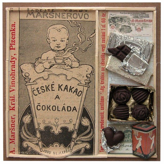 Přání retro koláž Čokoláda 1