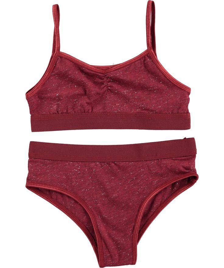 Jinny - Sweet Grape Melange - plum coloured underwear set