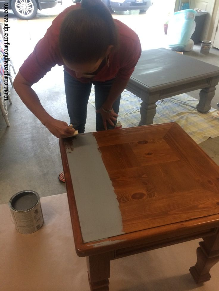Painting cover stain primer as a base coat on furniture so no sanding would be needed.