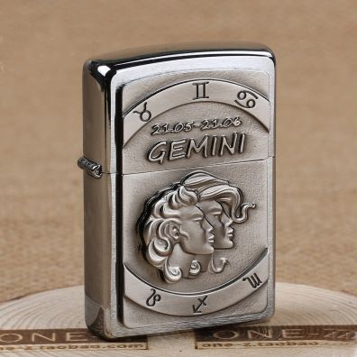 Europe Zippo Chrome Gemini Emblem Lighter