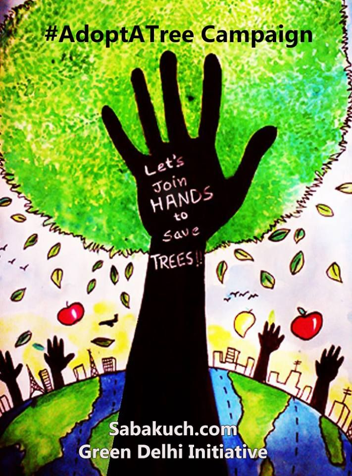 Adopt A Tree Campaign Save Trees They Will Save You Save Nature Save Delhi Adopt A Tree Shoot Video Earth Drawings Save Earth Drawing Save Nature