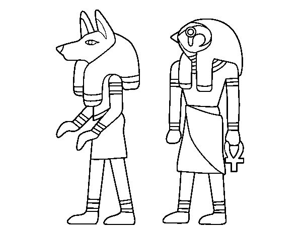 Coloring Crew Egyptian pages to color online