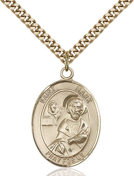 "St. Mark The Evangelist Gold Filled 1"""