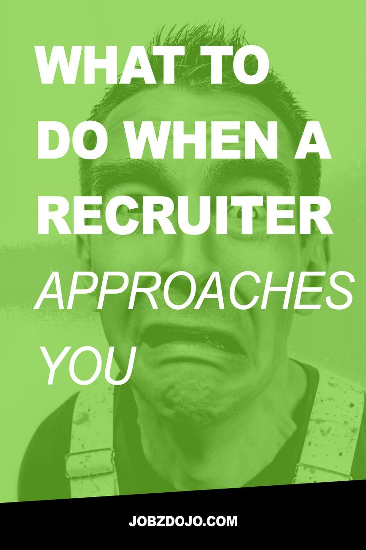 Don't freak out when a recruiter approaches you - this is a good thing! Knowing…