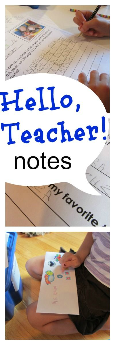 hello teacher notes: let kids connect with teachers before the first day of school #weteach