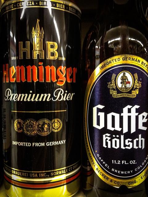 HB Henninger German Beer and Gaffe Kölsch Beer - Germany