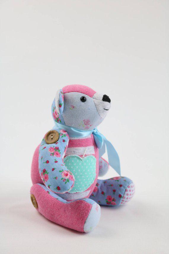 Pdf Mini Memory Bear Sewing Pattern Digital Small Keepsake Bear