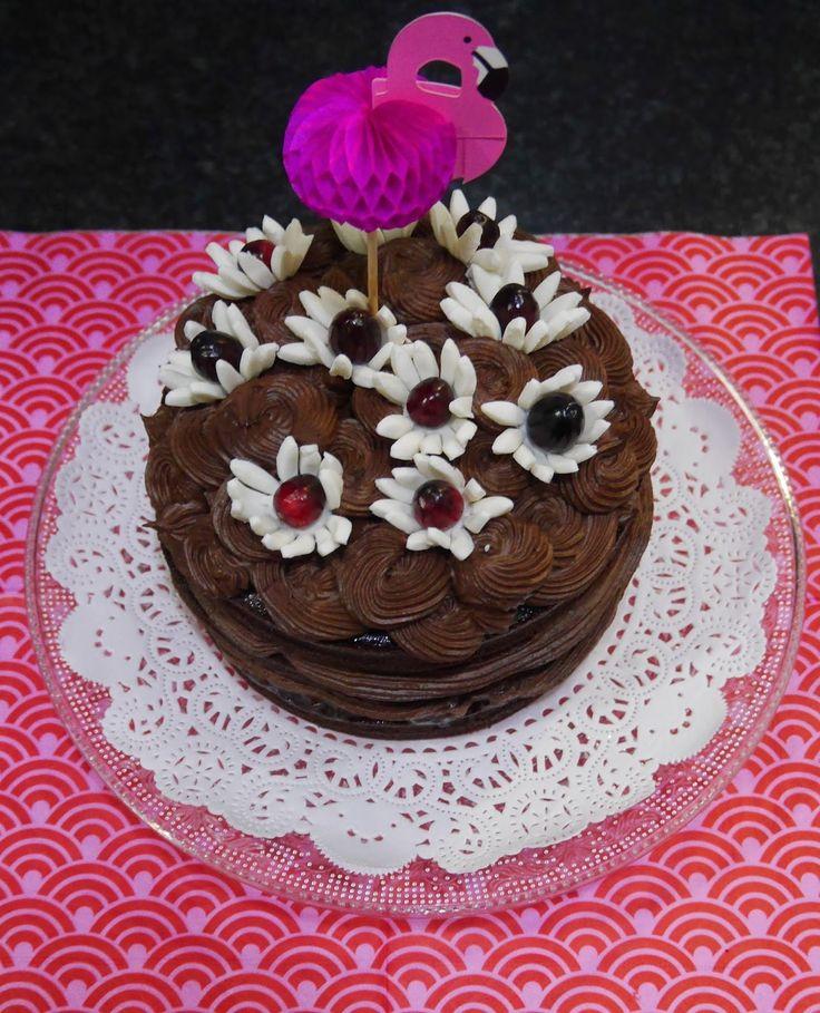 Mr WashiSan Cakes: Tarta (layer cake) de chocolate y arándanos