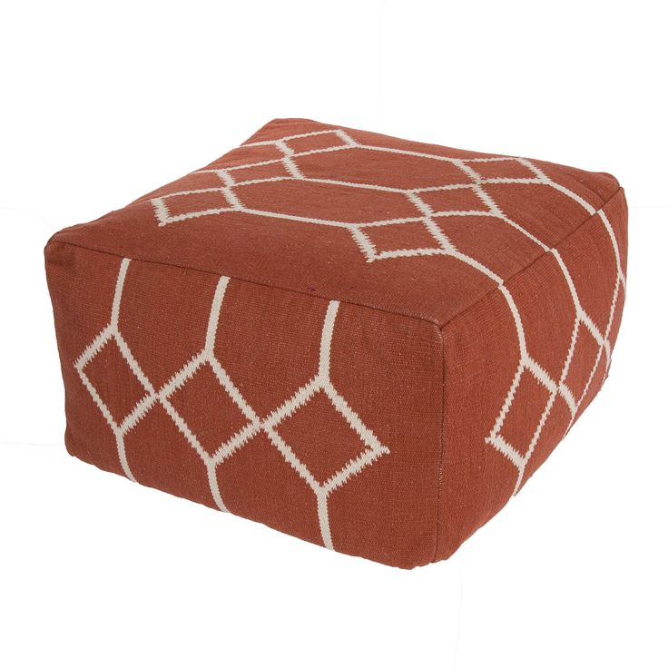 The Cadiz Collection Is A Modern Of Square Poufs Hand Woven From Cotton Casual Pouf Uses Strong Simple Geometrics In Bold Colors